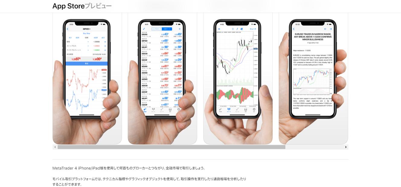 MT4のアプリ