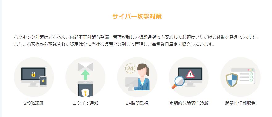 gmoコインセキュリティ対策