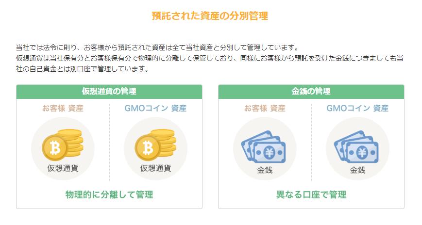 gmoコイン分別管理