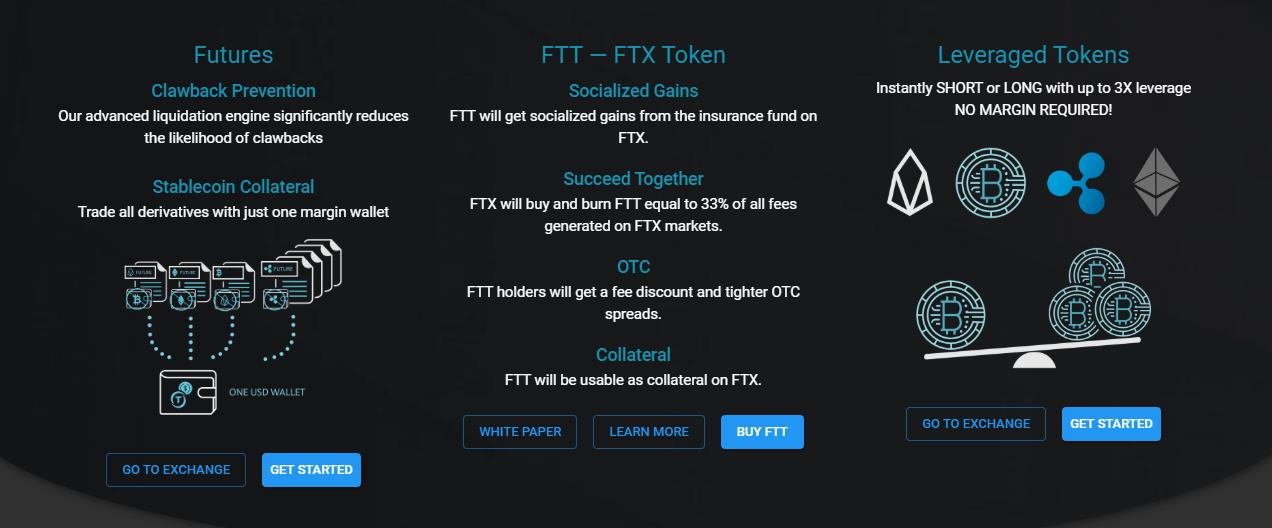 FTXの商品バリエーション